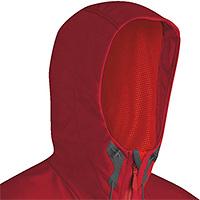 Kapuze einer typischen Mammut Softshell Jacke
