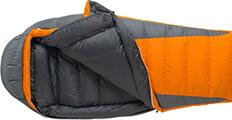 Ein typischer Daunenschlafsack von Marmot sorgt für entspannte Nächte ohne Frieren
