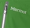 Jede Marmot Jacke schmückt das bekannte Logo des Herstellers