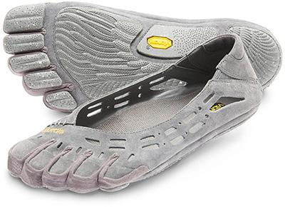 Auch Zehenschuhe in Form von luftigen Sandalen werden von Vibram hergestellt