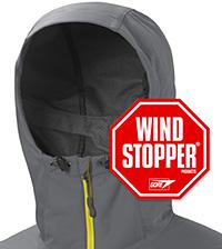 Bewährtes Premiummaterial von Windstopper macht das Rom Jacket zur robusten Outdoorjacke für alle Gelegenheiten.