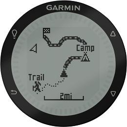 Die präzise Anzeige der Garmin Fenix erlaubt Trackverfolgung und Messung von Leistungsdaten