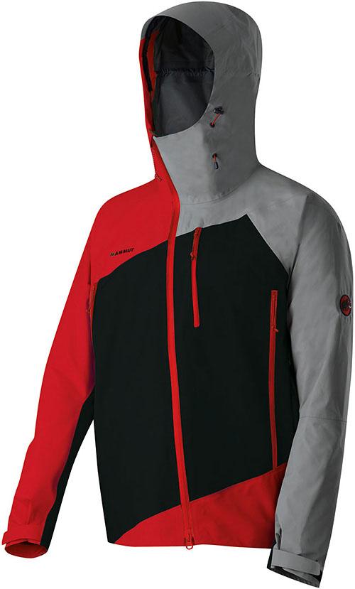 Jacke rot grau