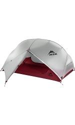 MSR Hubba Hubba NX - Rot / Grau - Außenzelt, offen