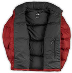 The North Face Nuptse Jacket - Rot / Grau - Bild 2