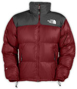 The North Face Nuptse Jacket - Rot / Grau
