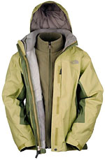 The North Face Women's Evolution TriClimate Jacket - Gelb / Grün